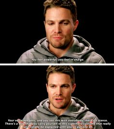 """""""Arrow"""" Star Stephen Amell and More Spill on Their Characters' Kickass Costumes Supergirl Dc, Supergirl And Flash, Star Citizen, Arrow Tv Series, Marvel And Dc Characters, Arrow Oliver, Team Arrow, Dc Legends Of Tomorrow, Flash Arrow"""