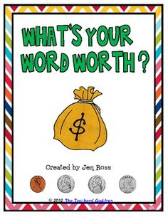 This is a freebie from my  Learning with Money pack!Students can practice counting coins while practicing spelling words! One of my students' favorite center!