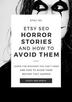 When it comes to Etsy SEO horror stories, the simplest mistakes can become a bad curse and can't be undone! Learn how to avoid your worst Etsy nightmares! Craft Business, Business Tips, Online Business, Starting An Etsy Business, Etsy Seo, Etsy Crafts, Horror Stories, Sell On Etsy, Etsy Seller