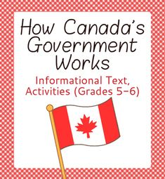 How Canada's Government Works. This resource's point of view is Canadian and is… Social Studies Worksheets, School Worksheets, Teaching Social Studies, Teaching Tools, Levels Of Government, Government Of Canada, 5th Grade Reading, Guided Reading, Comprehension Exercises