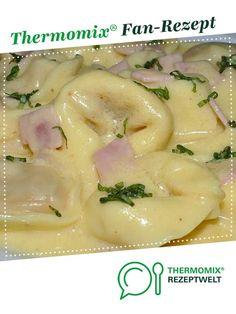Käse-Schinken-Sahne-Sauce (für Tortellini etc.) von mauderman. Ein Thermomix ® Rezept aus der Kategorie Saucen/Dips/Brotaufstriche auf www.rezeptwelt.de, der Thermomix ® Community.