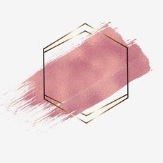 Rose Gold Backgrounds, Rose Gold Frame, Watercolor Logo, Gold Watercolor, Logo Background, Pink Glitter Background, Instagram Frame, Floral Logo, Frame Clipart