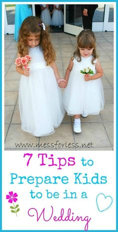 7 Tips for Having Your Kids in a Wedding - If you have future flower girl or ring bearer at home, use these tips to help have a successful day!