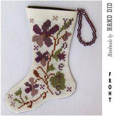 Violet Flowers Mini Stocking $15.00