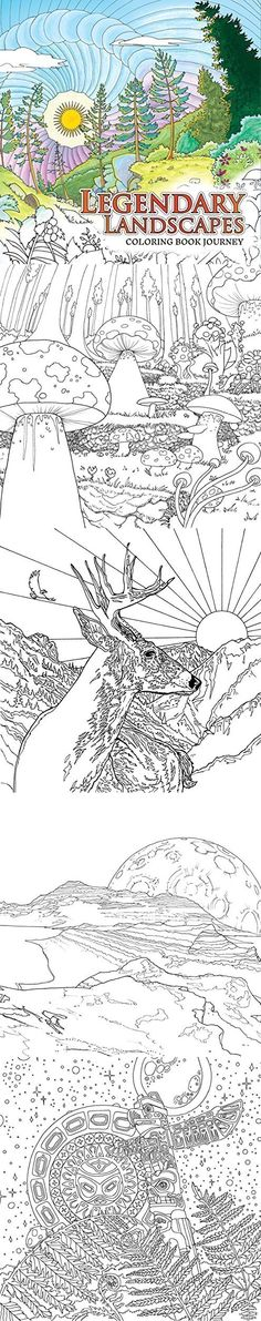 Lengendary landscapes adult coloring book...no swear words in this one ;)