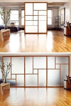 This would be a great room divider for a studio apartment, or large room by proteamundi