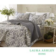 @Overstock - This bright floral quilt set is completely composed of cotton and machine washable. Matching shams are included.http://www.overstock.com/Bedding-Bath/Laura-Ashley-Amberley-3-Piece-Quilt-Set/6743047/product.html?CID=214117 $78.99