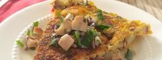 Seafood Spanish Frittata via www.goldenbasket.com #client Omelet, Seafood, French Toast, Dishes, Breakfast, Healthy, Recipes, Omelette