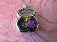 Its a Baby Girl Teddy Bear Floating Locket Necklace by JRCsJEWELRY on Etsy