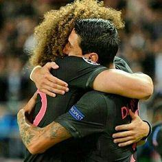 Parabéns mano pelo seu primeiro gol! Well done boys! #PSG