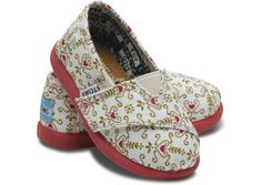 Ditsy Heart Damask Tiny TOMS can't wait to buy them tomorrow for fati