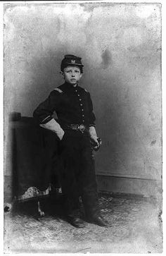 Unidentified photographer  Tad Lincoln, son of President Abraham Lincoln, in a Union uniform,   early 1860s