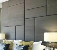 In this DIY guide, learn how to make a fabric wall panel or headboard yourself using either diamond, button, blind or biscuit tufting Padded Wall Panels, Leather Wall Panels, Upholstered Wall Panels, Fabric Panels, Fabric Wall Panel, Diy Wall Panel, Textured Wall Panels, 3d Wandplatten, Fabric Covered Walls