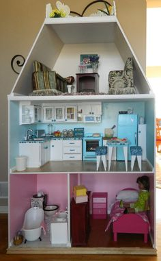 American Girl Doll House for 18 Inch Dolls  by QuiltsbyCupcake