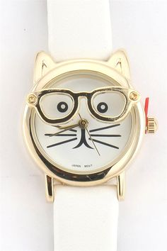 Hipster Cat Watches - Various Colors