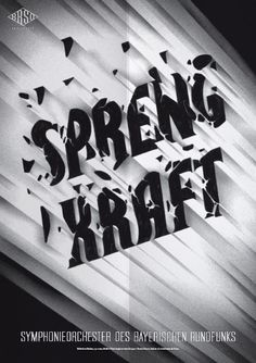 Typeverything.comPoster (3 of 13) from a campaign for the Bavarian Radio Symphony Orchestra by Mirko Borsche.