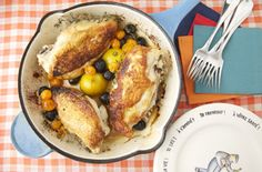 Roast Chicken with Caramelized Lemons, Cherry Tomatoes and Olives — Punchfork
