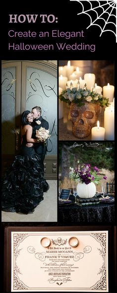 Ways to make your Halloween Wedding elegant and classy. Romantic gothic inspired weddings
