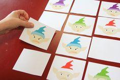 Un juego de memoria sobre la navidad para preparar usted mismo y trabajar las expresiones