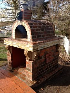 Outdoor Wood Pizza Ovens and DIY Kits - BrickWood Ovens - Mattone Barile Grande #BrickWoodOvens