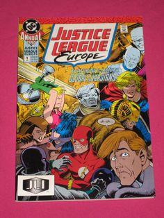 Justice League Europe Annual #1 DC Comics 1990, Flash, Power Girl, Elongated Man   eBay