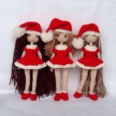 Amigurumi Christmas dolls. (Inspiration).