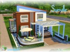 Check out this lot in The Sims 4 Gallery! Sims 4 Modern House, Sims 2 House, Sims 4 House Plans, Sims 4 House Building, Sims 4 House Design, Lotes The Sims 4, Sims Cc, House Flippers, Casas The Sims 4