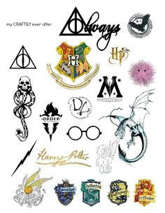 harry potter tattoo sheet