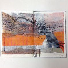 Drawing With Charcoal Sketchbook pages by Jean Davey Winter // sketchbook - Artist Journal, Artist Sketchbook, Art Journal Pages, Art Journals, Sketchbook Pages, Sketchbook Ideas, Mises En Page Design Graphique, Art Graphique, Kunstjournal Inspiration
