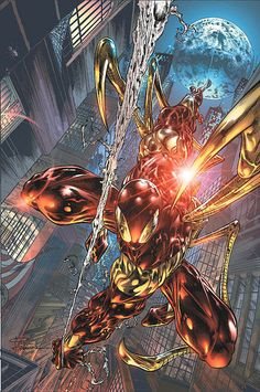 Iron Spider suit. Scarlet Spiders.