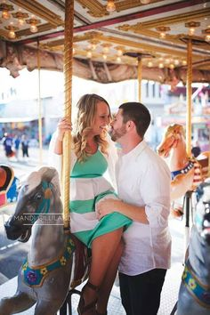 Romantic carousel photo session! Pictured in the All Shook Up Dress, Be Inspired Boutique.