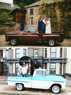Flat Bed Wedding Truck : A flatbed truck might not sound like the wedding car you've always dreamed of, but this Chevy actually has a retro feel and the opportunity for some really cool wedding photos. Wedding Car Decorations, Wedding Cars, Wedding Blog, Boho Wedding, Wedding Decor, Google Drive, Password Organizer, Vintage Chevy Trucks, Wedding Transportation