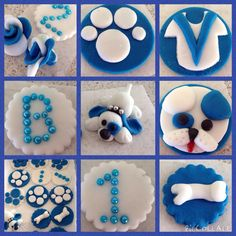 NRL Bulldog cupcake toppers