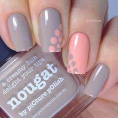 Polka Dot nail design | polka dot #nails #nailart