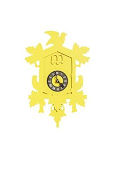 FunDeco Small Cuckoo Clock  Canary * Details can be found by clicking on the image.