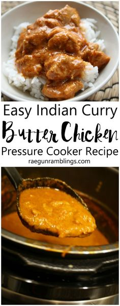My new go to weeknight chicken dinner recipe. Indian butter chicken recipe for the pressure cooker instant pot