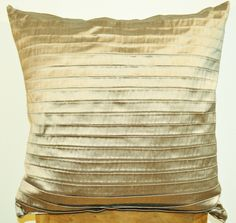 CUSHION GRAY WITH PLEATS 100% SILK via DARAM COLLIN DESIGN. Click on the image to see more!
