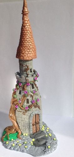 Large Fairytale Castle  Polymer Clay Castle, Fairy Home, Palace, Once Upon A Time, Faeries, Sculpture, Handmade, Polymer Clay Sculpture