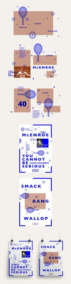 Let's make a 'racket' on Behance Contemporary graphic design layout idea inspiration