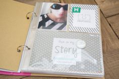 "By Carly Robertson. I like the idea of keeping a mini album for ""my stuff""."