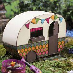 Gypsy Garden by Genevieve Gail - Mini Garden - Fairy Garden - Camper - Vintage