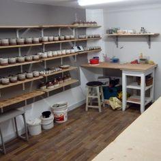 Inside the hand building studio on ceramicist Julia Smith