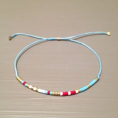 light blue friendship bracelet wish bracelet best friend bracelet string bracelet