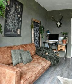 Trendy home office vintage decor couch Ideas Home Office Decor, Living Room Colors, Open Living Room Design, Home Decor, House Interior, Apartment Decor, Interior Design Living Room, Living Room Decor Inspiration, Trendy Home