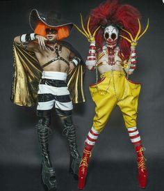 Psycho Ronald McDonald and the Hamburglar by Jake Simpson