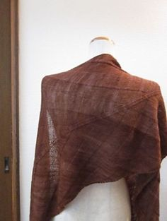Banana Leaf Shawl by Yuki Ueda | malabrigo Lace in Rich Chocolate: