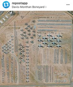・・・ Wow, @dailyoverview is quite the follow. This repost shows the world's largest aircraft storage and preservation facility in Tucson, Arizona. In all, the boneyard contains more than 4,400 retired airplanes. You can check out @dailyoverview to see more. Satellite imagery © DigitalGlobe #az #ad