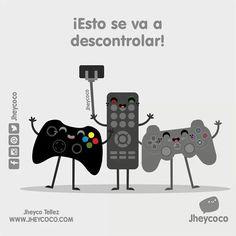 ¡Viernes de descontrol!  #jheycoco #humor #cute #ilustracion #kawai #tierno…