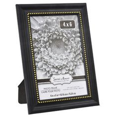 Special Moments Black Plastic Frames with Golden Beaded Inner Edges, 4x6 in.