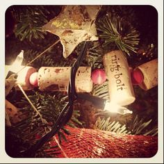 I'm making this starting ... now!  Mostly champagne corks, of course.  All the more festive!
